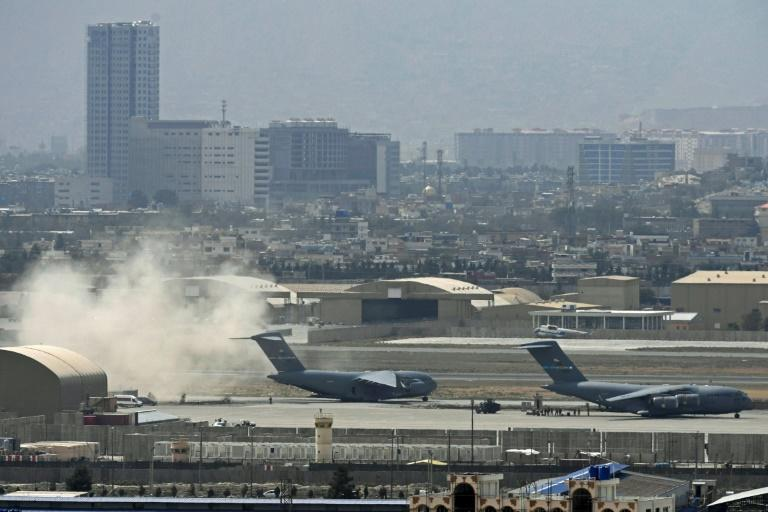 The United States led a historic airlift of more than 122,000 people from Afghanistan via Kabul's airport (AFP/Aamir QURESHI)