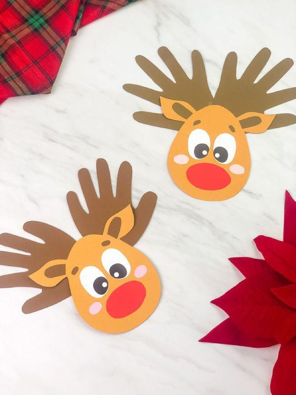 "<p>This template helps turn your child's handprints into antlers for this cute reindeer craft. Kids as young as toddlers and preschoolers can get in on the fun with this project, which uses common supplies you probably already have at home.</p><p><em><a href=""https://www.simpleeverydaymom.com/handprint-reindeer-craft-for-kids/"" rel=""nofollow noopener"" target=""_blank"" data-ylk=""slk:Get the tutorial at Simple Everyday Mom»"" class=""link rapid-noclick-resp"">Get the tutorial at Simple Everyday Mom»</a></em><br></p>"