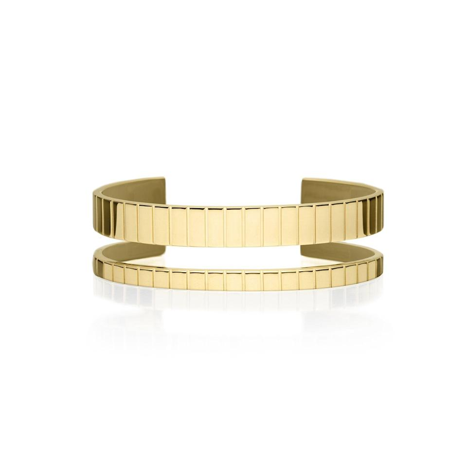 """<p><strong>ivi</strong></p><p>i-v-i.co</p><p><strong>780.00</strong></p><p><a href=""""https://i-v-i.co/collections/gift-list/products/ivi-8mm-slot-cuff"""" rel=""""nofollow noopener"""" target=""""_blank"""" data-ylk=""""slk:Shop Now"""" class=""""link rapid-noclick-resp"""">Shop Now</a></p><p>A California-based contemporary, sustainable jewelry brand, ivi used 925 sterling silver as the base of this Slot Cuff and plated it with one to two microns of gold.</p>"""