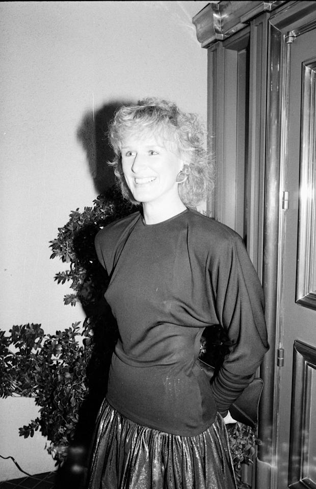Glenn Close, 1983. Photo courtesy of Getty Images.
