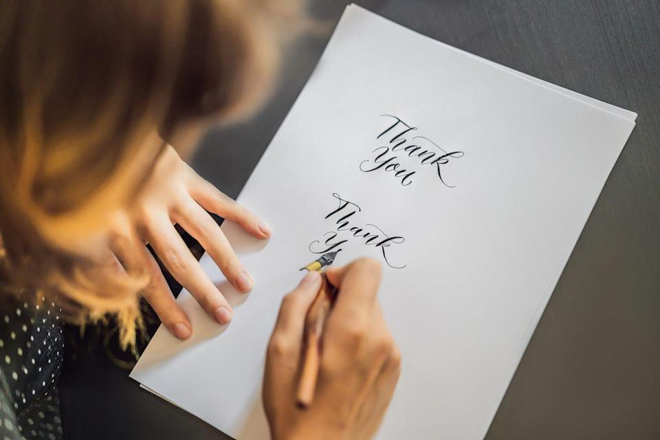 """<p><a href=""""https://greatergood.berkeley.edu/article/item/why_gratitude_is_good"""" rel=""""nofollow noopener"""" target=""""_blank"""" data-ylk=""""slk:A series of studies"""" class=""""link rapid-noclick-resp"""">A series of studies</a> have revealed the powerful impact that <a href=""""https://www.oprahmag.com/life/relationships-love/g23742866/celebrity-gratitude-quotes/?slide=1"""" rel=""""nofollow noopener"""" target=""""_blank"""" data-ylk=""""slk:gratitude immersion"""" class=""""link rapid-noclick-resp"""">gratitude immersion</a> can have on not only your psychological well-being, but your physical vitality as well. So if your life isn't abundant with romance, it's a good time to grab a stack of greeting cards and turn your attention toward those who have shown you love in other ways. Like the co-worker who sent a latte and a word of encouragement after your big presentation disaster, or the friend who delivered a pot of soup and a stack of magazines when you were plagued with a nasty cold.</p>"""