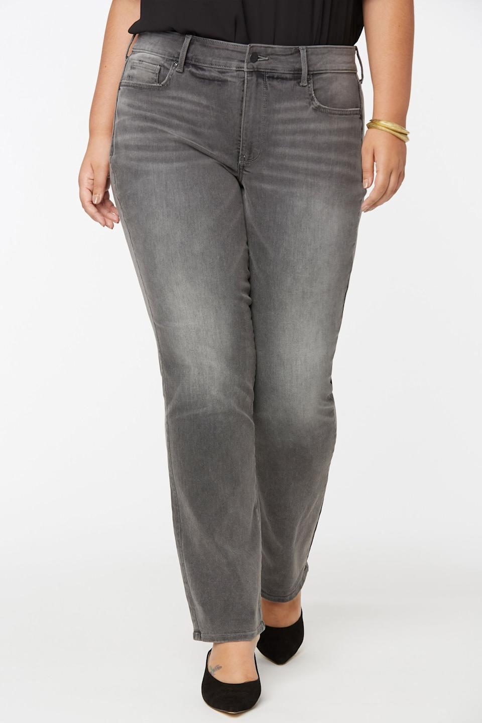 Marilyn Straight Jeans In Plus Size. Image via NYDJ.