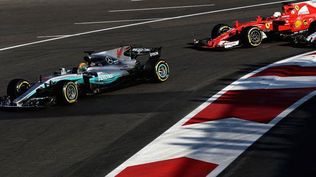 Hamilton and Vettel in Azerbaijan. Image: Getty
