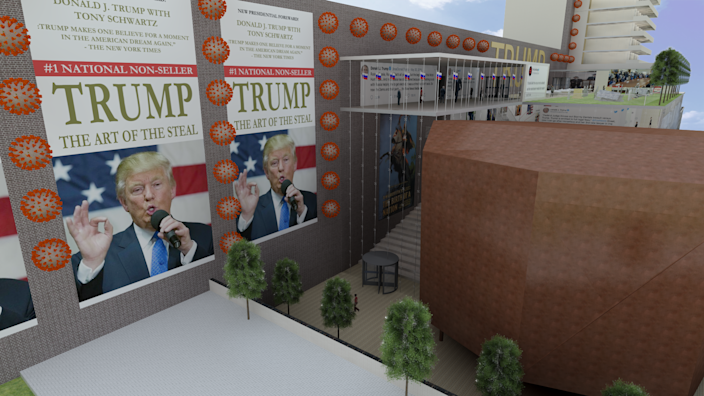 Would the president's real library look like this?  (djtrumplibrary.com)