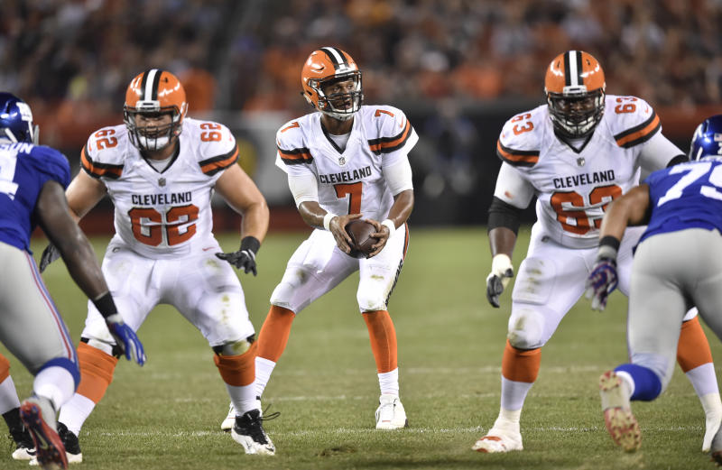 DeShone Kizer will start at quarterback this week for the Browns. (AP)