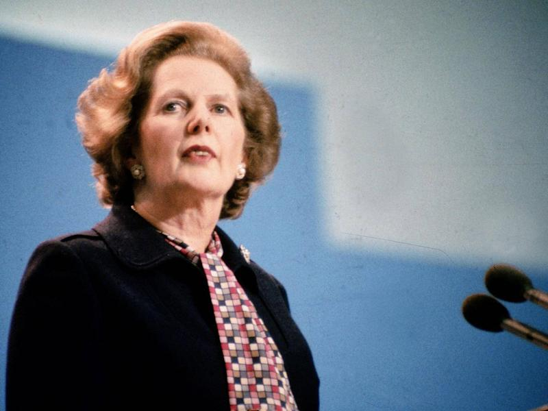Margaret Thatcher's government brought in the short, sharp shock regime in the belief it would reduce reoffending (Getty)