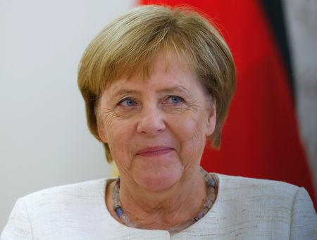 Lithuanian President Grybauskaite meets with German Chancellor Merkel in Vilnius