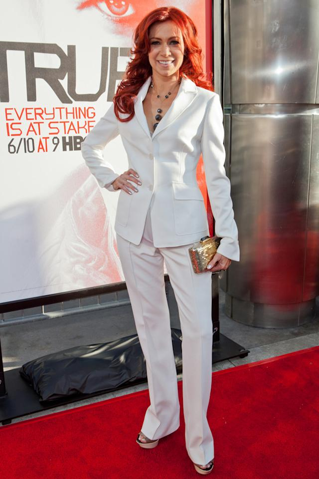 """Carrie Preston attends HBO's """"True Blood"""" Season 5 Los Angeles premiere at ArcLight Cinemas Cinerama Dome on May 30, 2012 in Hollywood, California."""