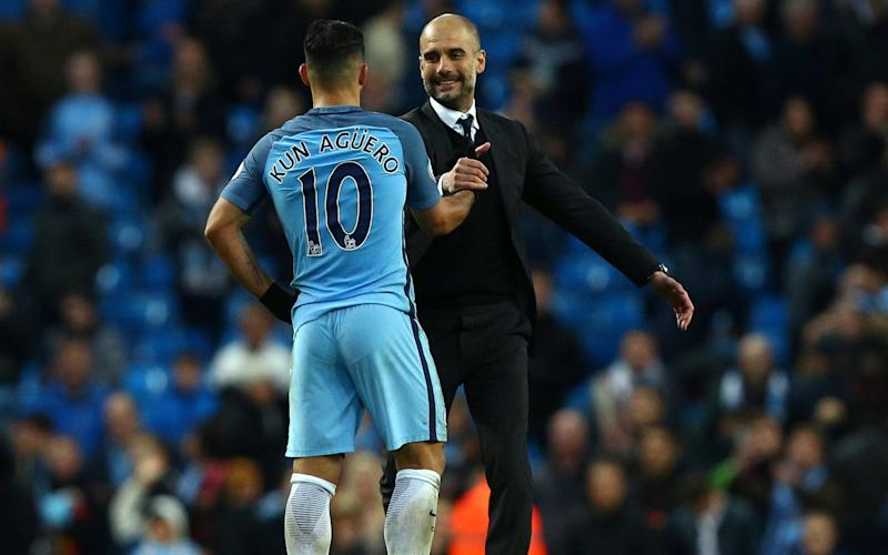 Guardiola was delighted to have come away with a point - Copyright 2017 The Associated Press. All rights reserved.