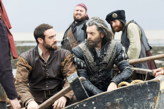 """<p><b>What's Coming Up: </b>ABC's five-week comedy extravaganza returns with Galavant (Joshua Sasse) headed on a journey to take King Richard (Timothy Omundson) back to his home kingdom. But fear not, Galabella fans, the dashing knight hero won't be gone for long. Exec producer Kat Likkel says Galavant's """"main goal is to turn around, raise an army, and rescue Isabella, his one true love."""" And just in case your memory is a little foggy, the first episode will kick off with a giant musical number that'll catch everyone up on where all the characters are now.</p><p><b>A Battle to Behold: </b>In addition to more guest star power (Hugh Bonneville, John Stamos, and """"Weird Al"""" Yankovic will all be back), the new season will feature an epic battle between three competing armies, shot in Morocco. """"We were filming where <i>Lawrence of Arabia</i> was shot,"""" Likkel says. """"It's exciting as television's only musical comedy, we're shooting a giant battle of three armies in Morocco."""" <i>— Victoria Leigh Miller</i></p><p><i>(Credit: Getty Images)</i></p>"""