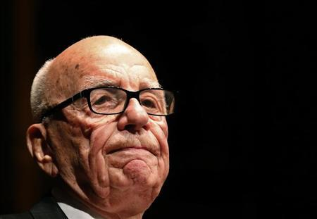 Murdoch, News Corp. and 21st Century Fox CEO, speaks during the annual Lowy Lecture at the Sydney Town Hall