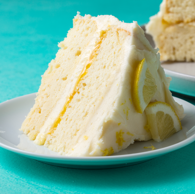 """<p>This lemon cake make look old-school and humble, but it's truly next-level. The bright flavour is bold enough to wake you up, and the lemony cream cheese icing is so good, you'll want to eat it by the spoonful.</p><p>Get the <a href=""""https://www.delish.com/uk/cooking/a34821869/easy-lemon-cake-recipe/"""" rel=""""nofollow noopener"""" target=""""_blank"""" data-ylk=""""slk:Lemon Layer Cake"""" class=""""link rapid-noclick-resp"""">Lemon Layer Cake</a> recipe.</p>"""