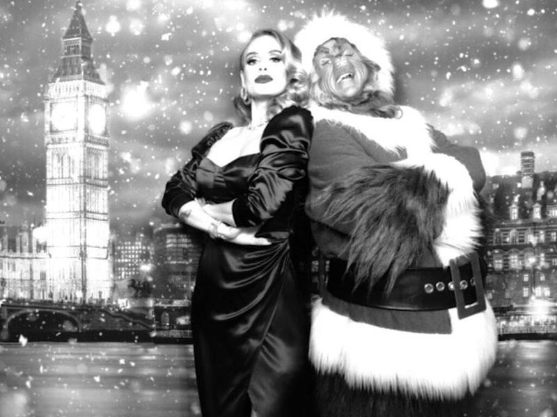 Adele shows off svelte new figure in Christmas party snaps