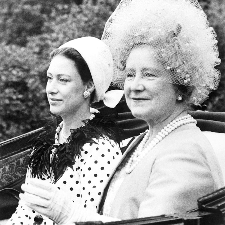 The Queen Mother Elizabeth (R) and Princess Margaret - Getty