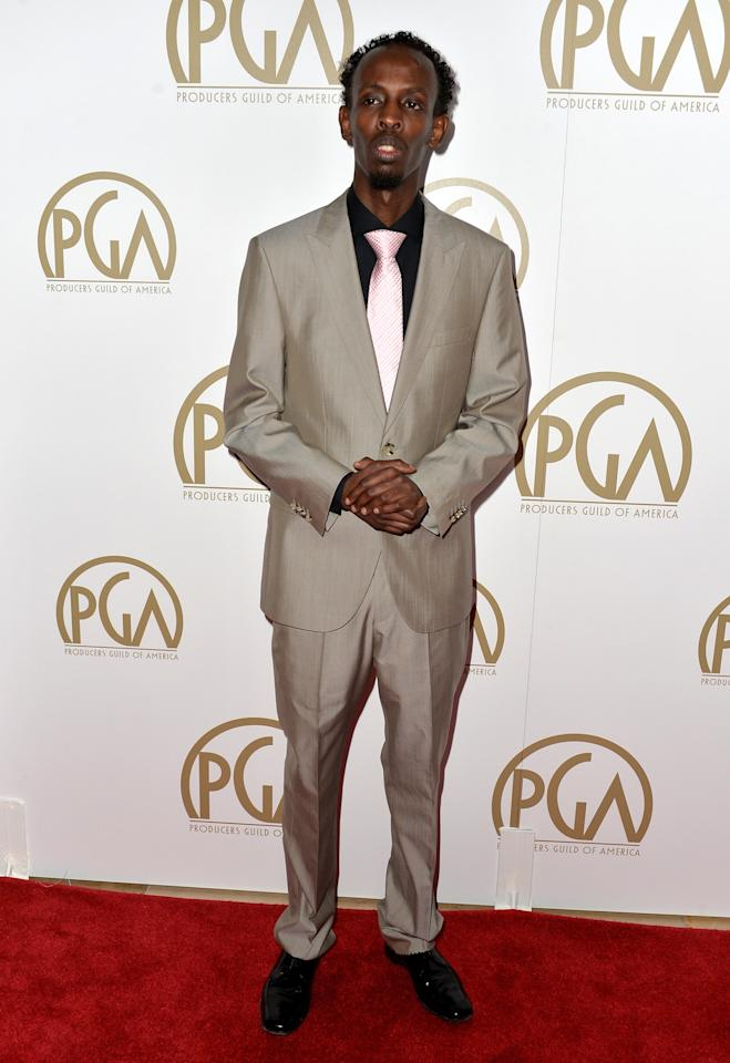 BEVERLY HILLS, CA - JANUARY 19: Actor Barkhad Abdi attends the 25th annual Producers Guild of America Awards at The Beverly Hilton Hotel on January 19, 2014 in Beverly Hills, California. (Photo by Alberto E. Rodriguez/Getty Images)
