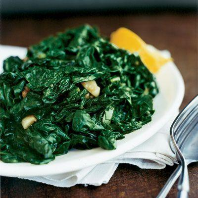 """<p>Keep this simple dish in your back pocket whenever you need a last-minute side dish. </p><p><strong><a href=""""https://www.countryliving.com/food-drinks/recipes/a10727/sauteed-spinach-garlic-lemon-ghk0108/"""" rel=""""nofollow noopener"""" target=""""_blank"""" data-ylk=""""slk:Get the recipe"""" class=""""link rapid-noclick-resp"""">Get the recipe</a>.</strong></p>"""