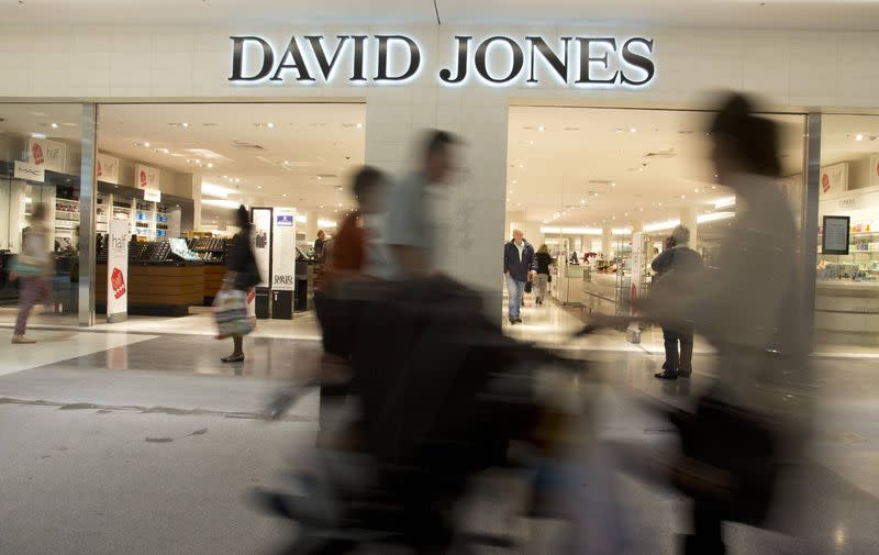 Shoppers are pictured at David Jones department store in Sydney