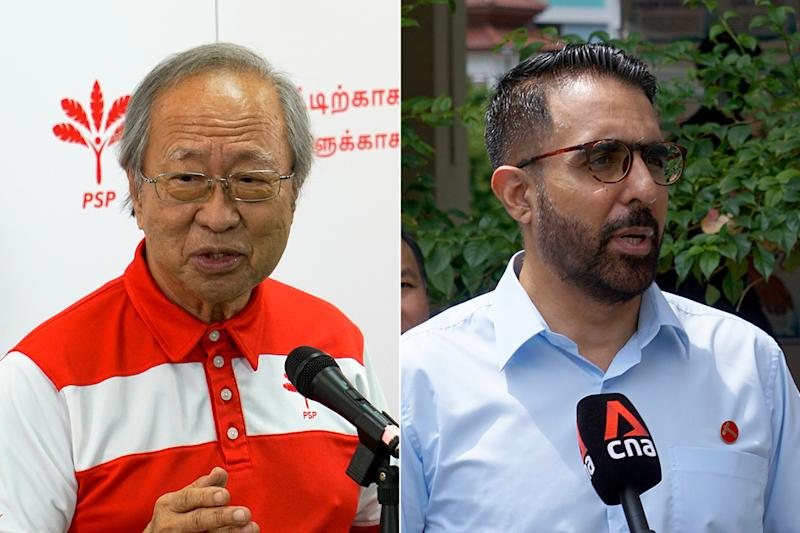 Progress Singapore Party's Tan Cheng Bock and Workers' Party's Pritam Singh. (PHOTOS: Dhany Osman/Yahoo News Singapore)