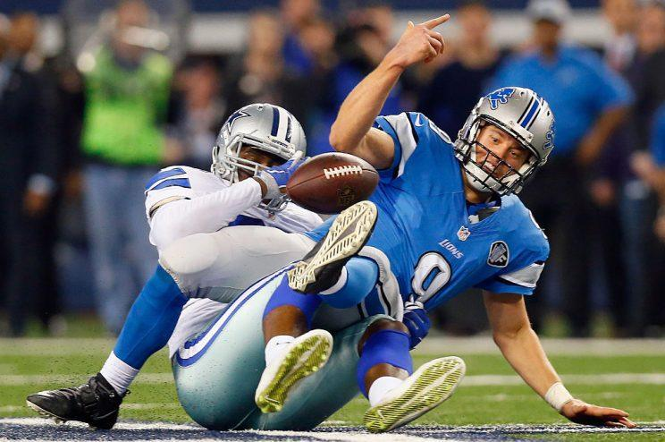 Matthew Stafford, not at his best. (Photo by Tom Pennington/Getty Images)