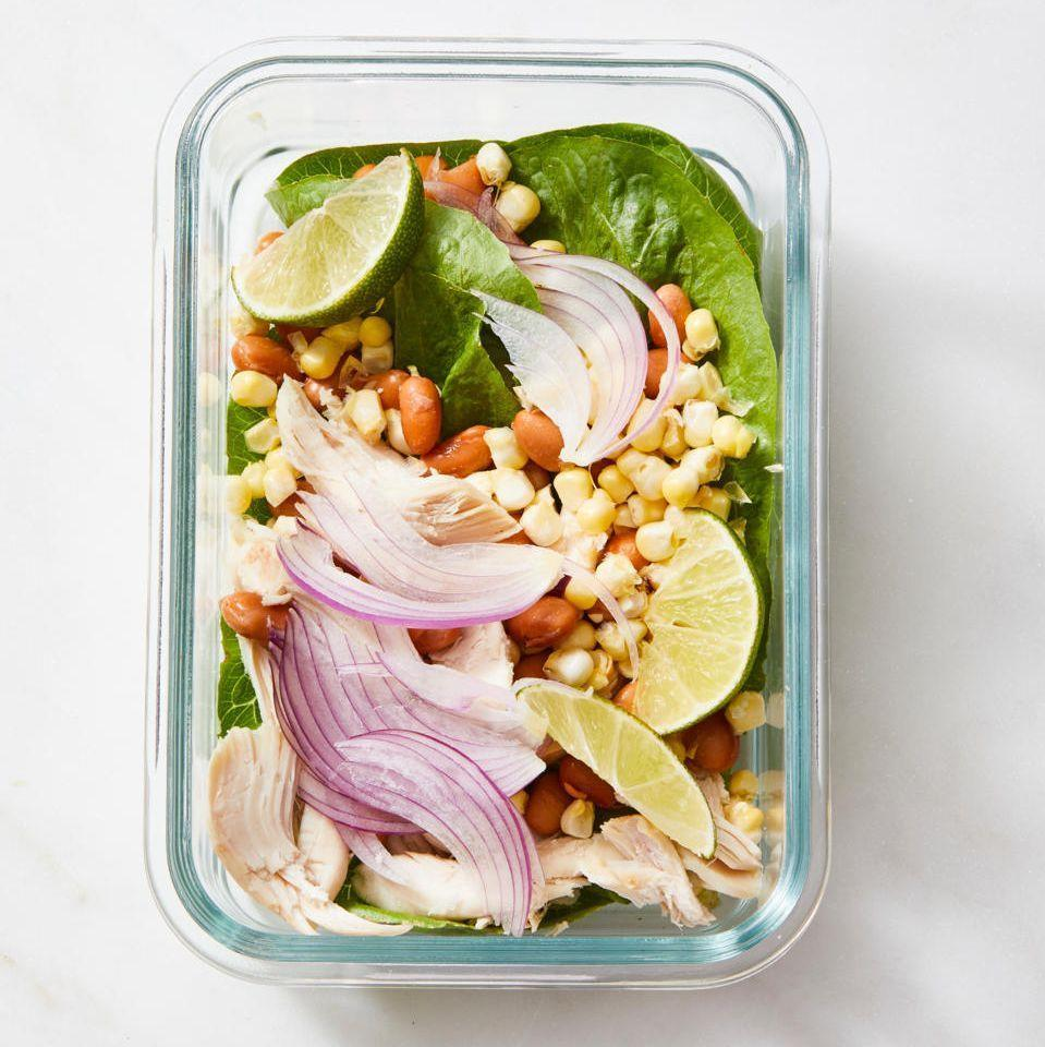"""<p>Brighten up any day and try this colorful, filling salad for lunch.</p><p><em><a href=""""https://www.goodhousekeeping.com/food-recipes/a28351320/tex-mex-chicken-salad-recipe/"""" rel=""""nofollow noopener"""" target=""""_blank"""" data-ylk=""""slk:Get the recipe for Tex-Mex Chicken Salad »"""" class=""""link rapid-noclick-resp"""">Get the recipe for Tex-Mex Chicken Salad »</a></em></p>"""
