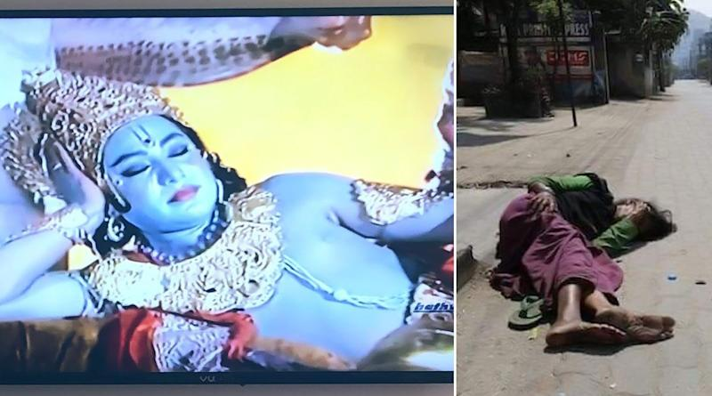 India Under Lockdown: Prasar Bharati Asks Netizens to Post Pics of Them Watching Ramayana and Mahabharat on DD, Twitterati Respond With 'Heartbreaking' Visuals