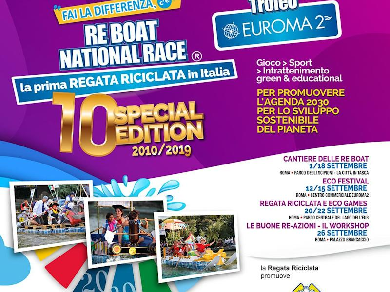 Roma: torna la Re Boat National Race, la regata riciclata