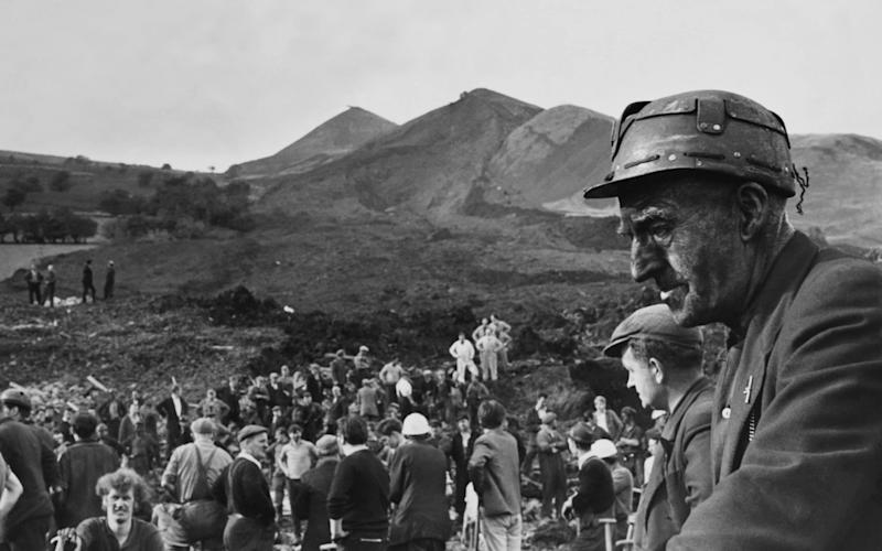 Devastated miners during a rescue following the Aberfan disaster - Getty Images Contributor