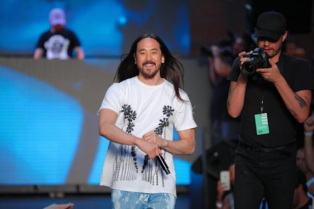 <p><strong>No. 5: Steve Aoki</strong><br><strong>Earnings this year: $29.5 million</strong><br>Referred to by <em>Forbes</em> as electronic dance music's busiest man, 39-year-old Steve Aoki played over 200 shows in 12 months. He is the son of Rocky Aoki, who founded Japanese restaurant chain Benihana, and also takes home endorsement cheques from T-Mobile, Japanese airline ANA and winemaker Luc Belaire. (Canadian Press) </p>