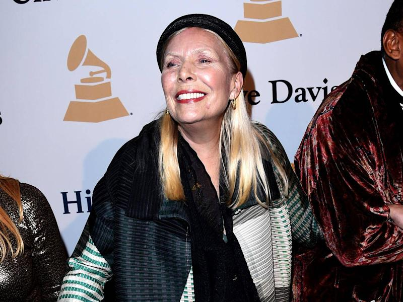 Joni Mitchell declared: If you're over 50, however well preserved, you just don't have the look' (Getty)