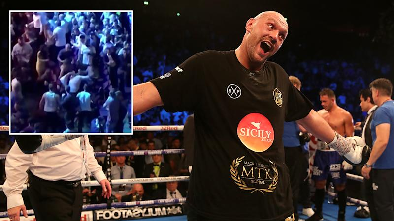 Former heavyweight champion Tyson Fury wins in boxing comeback