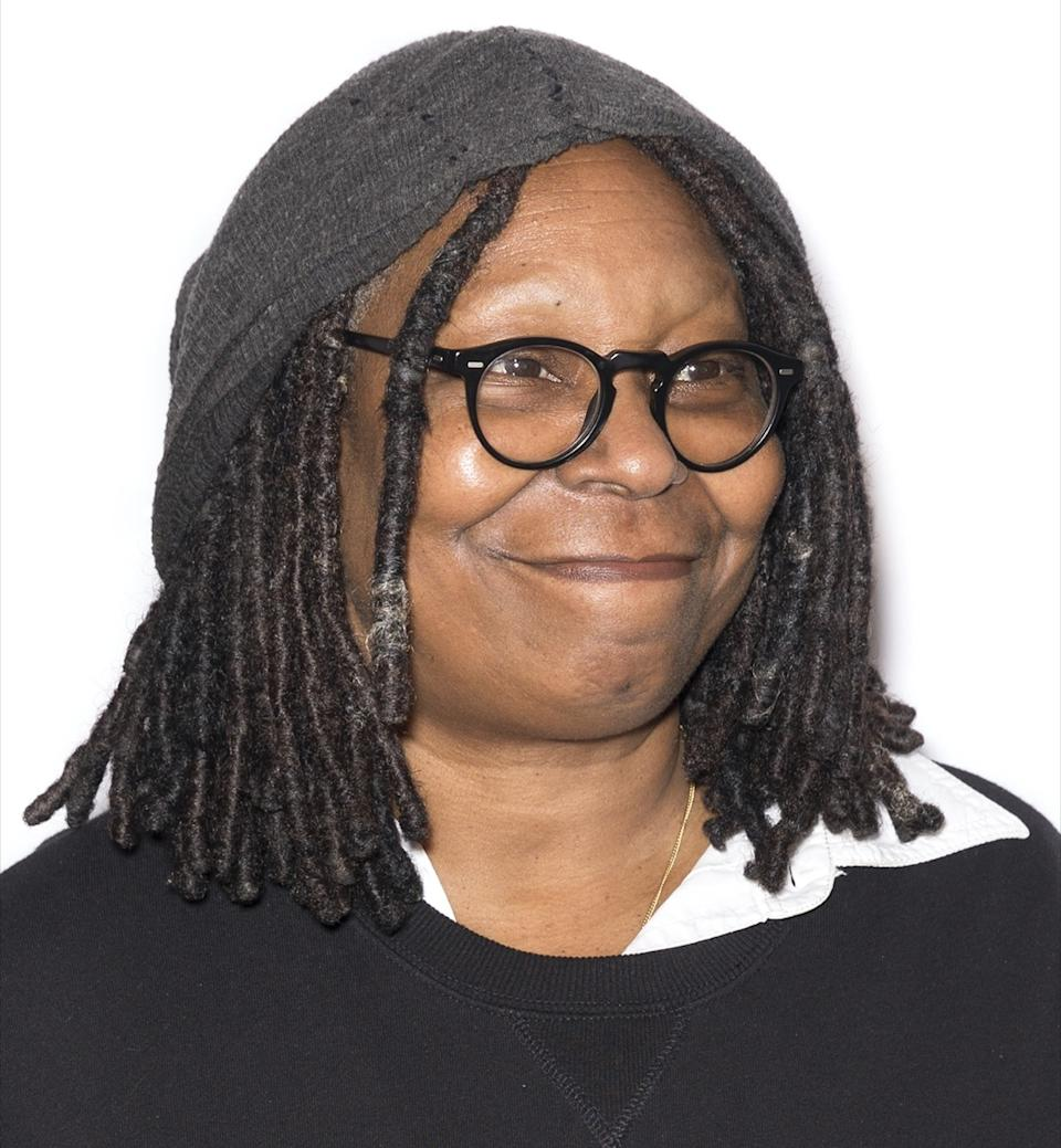 Whoopi Goldberg wears black sweater at the Tribeca Film Festival in 2017