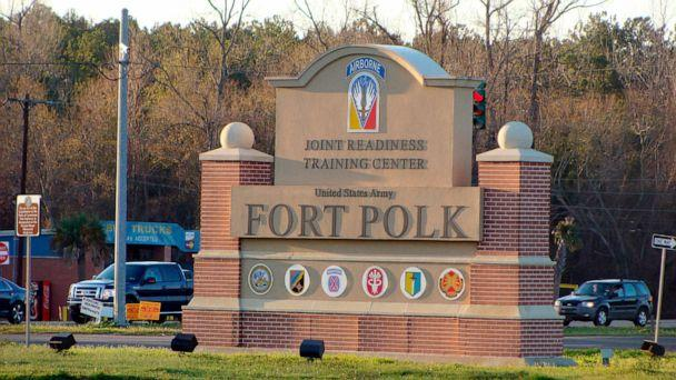 PHOTO: A sign marks the entrance of the Fort Polk Joint Readiness Training Center in Fort Polk, La., Feb. 22, 2012. (Lolita Baldor/AP, FILE)