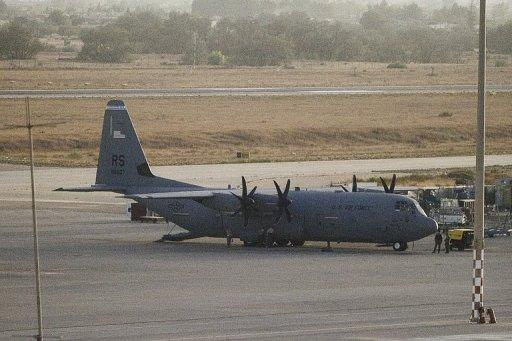 A US Air Force C-130 Hercules aircraft