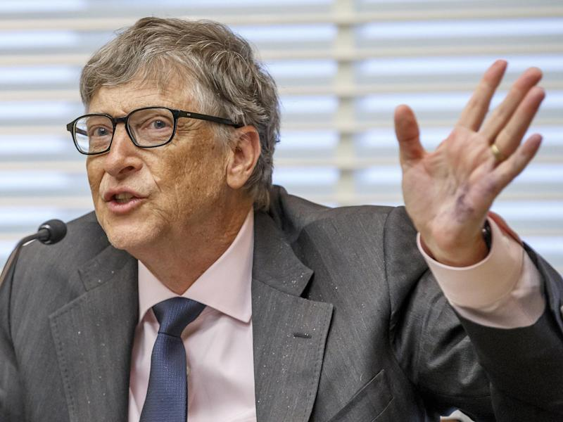 'Great progress' is being made in tackling diseases affecting the world's poorest, Mr Gates said: EPA