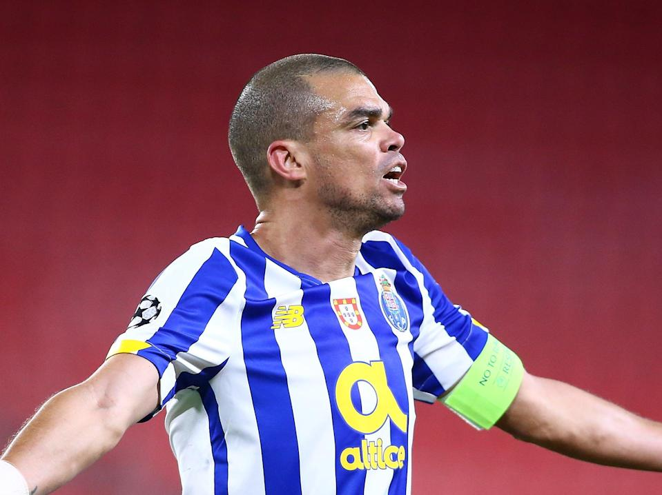 Porto centre-back Pepe during the first leg (Getty Images)