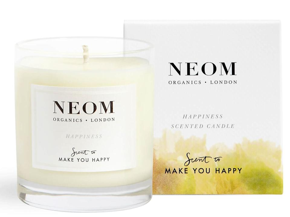 Neom's 'Happiness' scented candle (Photo: Neom / Look Fantastic)