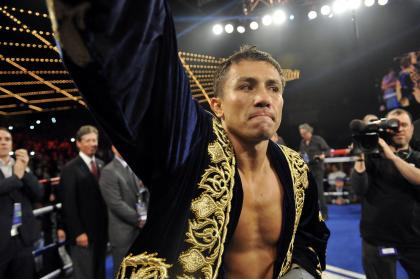 Gennady Golovkin enters the ring to face before facting Curtis Stevens (not pictured). (USA Today)