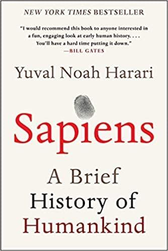 <p><span><b>Sapiens: A Brief History of Humankind</b></span> ($13, originally $25) has plagued my nightstand. I've looked at it for almost a year, and I'm determined to finish it in 2021.</p>
