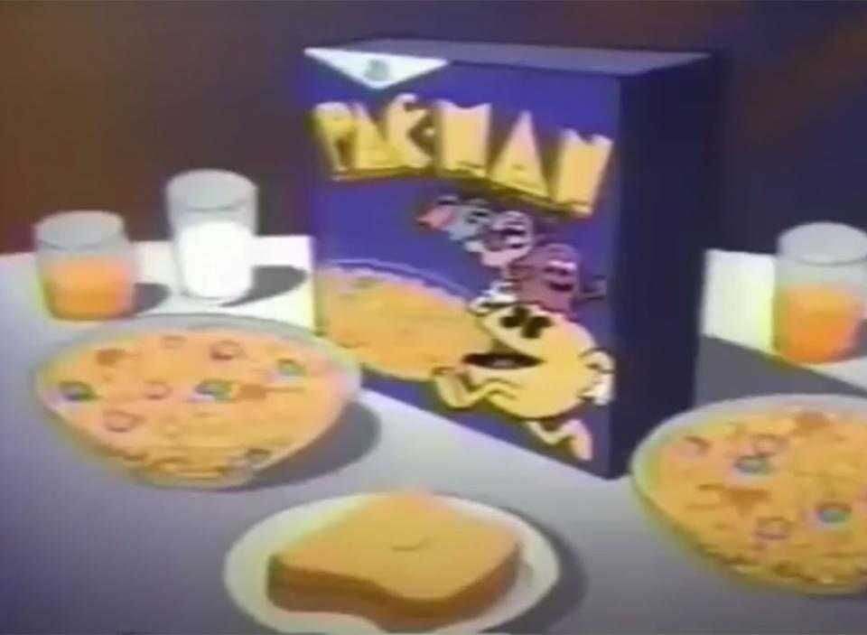 pac man cereal from commercial