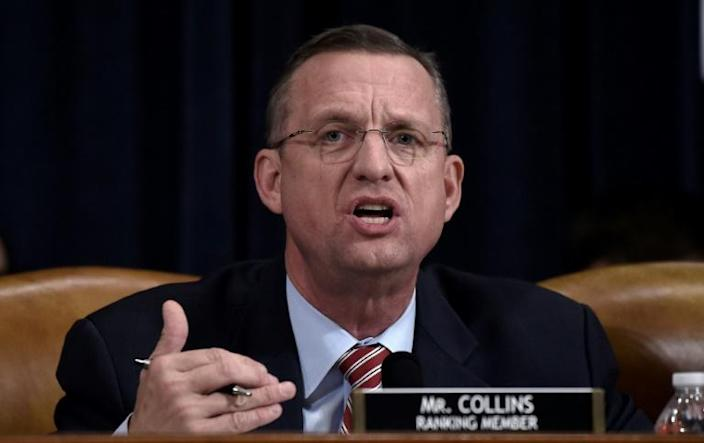"""Georgia lawmaker Doug Collins, the ranking Republican on the House Judiciary Committee, accused Democrats of seeking to impeach President Donald Trump on the basis of """"disputed facts"""" (AFP Photo/Olivier Douliery)"""
