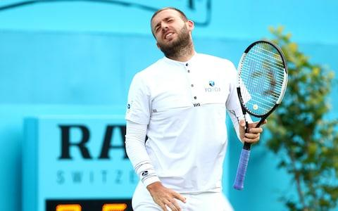 "<span>Dan Evans was well beaten by <a class=""link rapid-noclick-resp"" href=""/olympics/rio-2016/a/1223139/"" data-ylk=""slk:Stan Wawrinka"">Stan Wawrinka</a></span> <span>Credit: Getty images </span>"