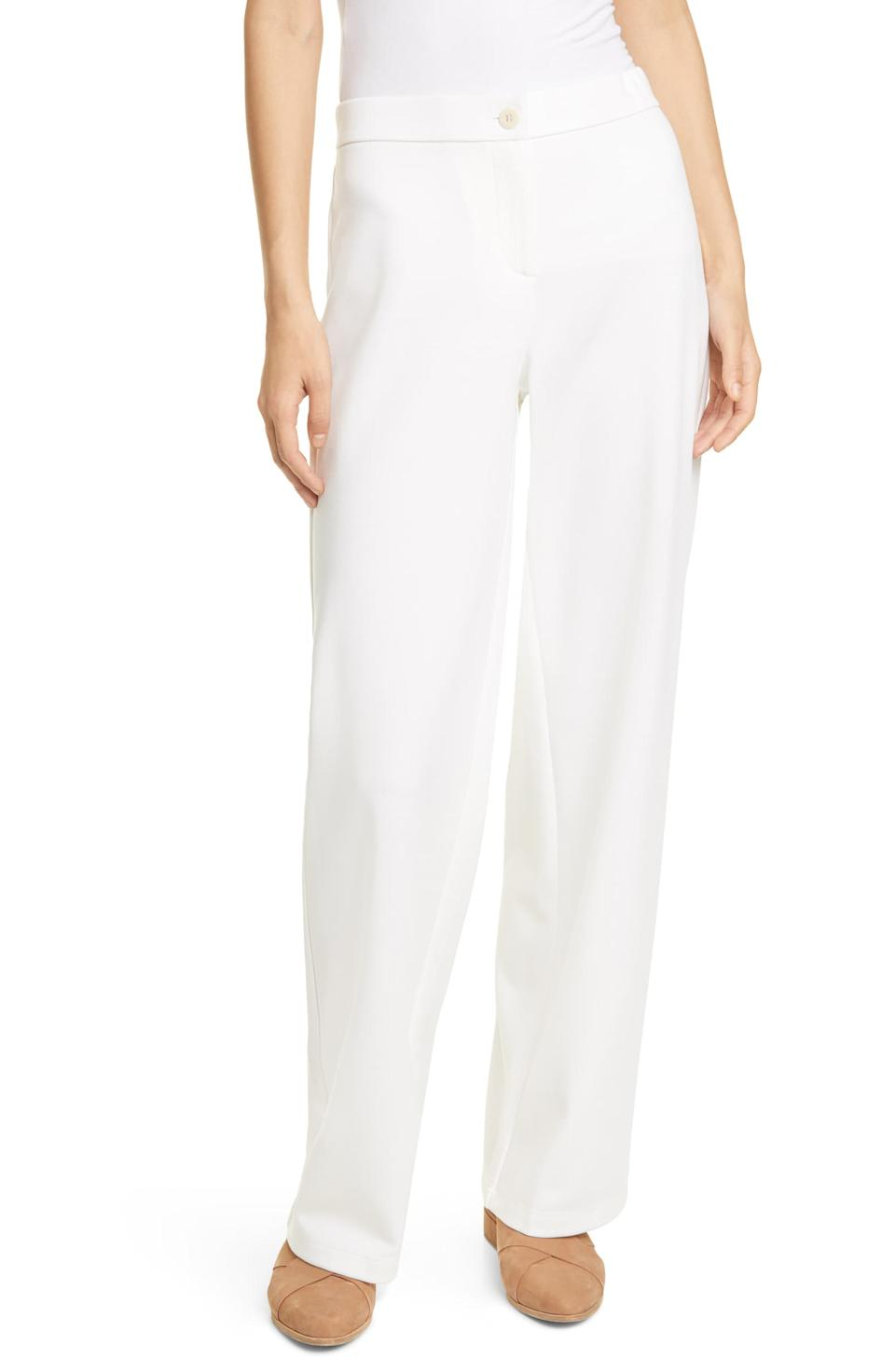 Eileen Fisher Straight Leg Ankle Pants. Image via Nordstrom.