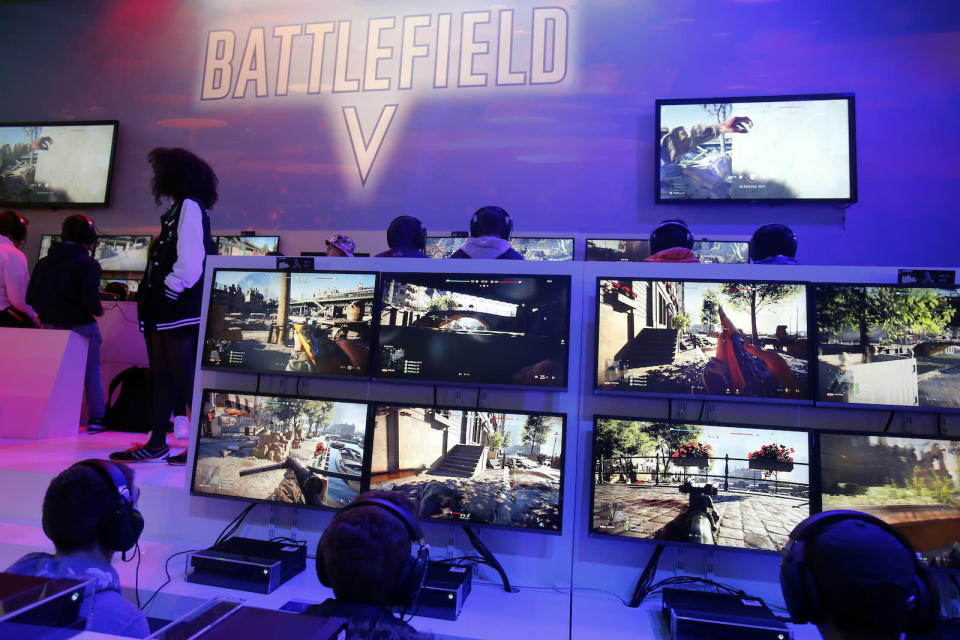 PARIS, FRANCE - OCTOBER 27:  Gamers play the video game