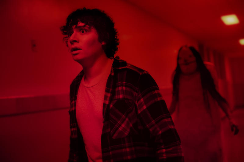 The Pale Lady haunts Austin Zajur in 'Scary Stories to Tell in the Dark' (Photo: George Kraychyk/CBS Films/Lionsgate)