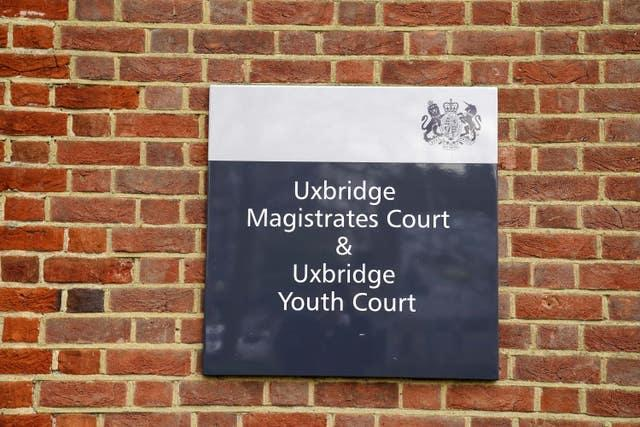 Uxbridge Magistrates'Court, west London (Steve Parsons/PA)
