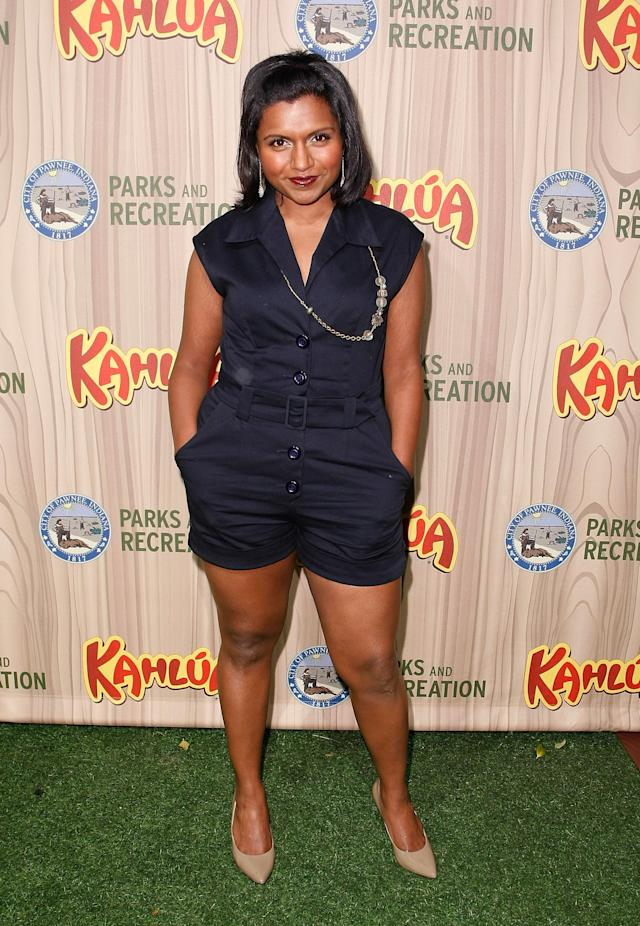 "LOS ANGELES, CA - APRIL 09: Actress Mindy Kaling arrives at the premiere of NBC's ""Parks & Recreation"" at My House on April 9, 2009 in Los Angeles, California. (Photo by Michael Buckner/Getty Images)"