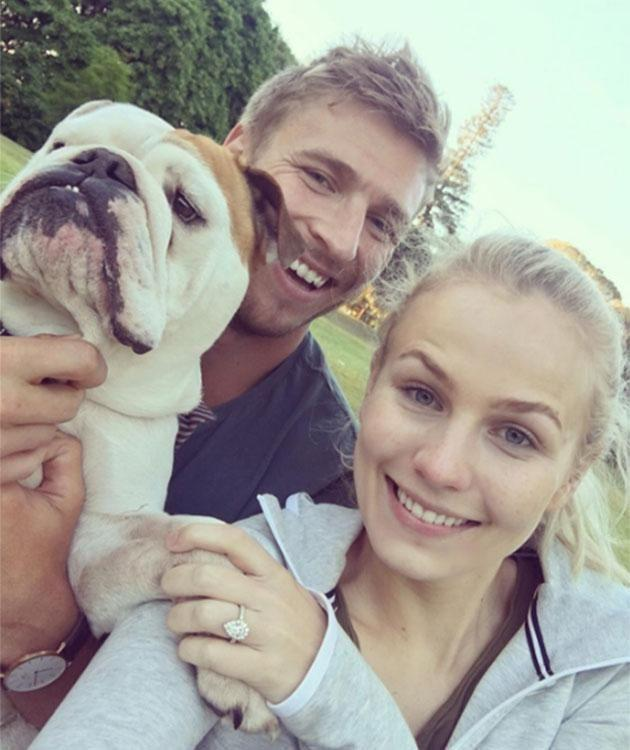 Charlotte and Kieren shared the happy news. Source: Instagram