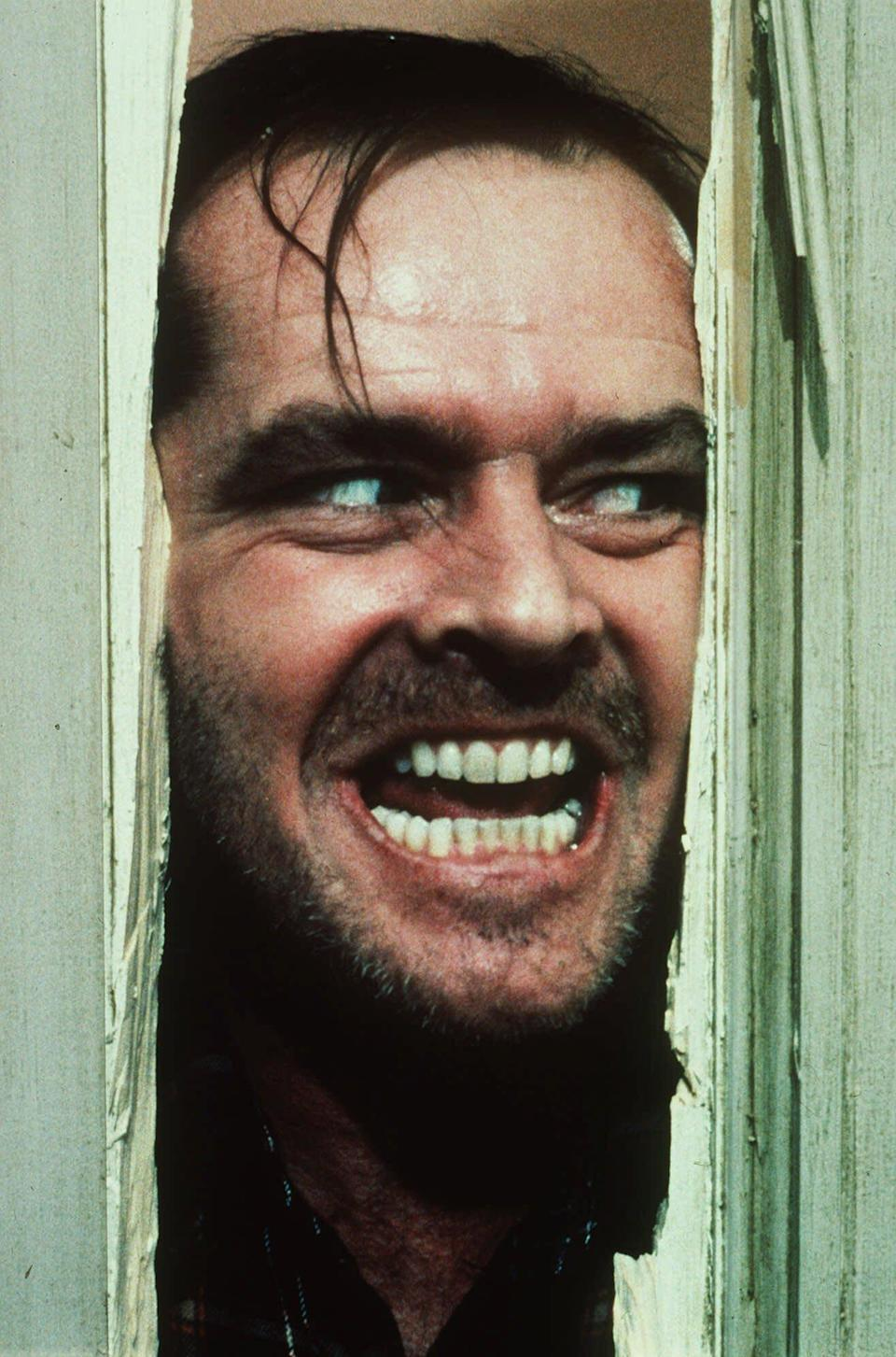 "FILE - In this undated file photo originally released by Warner Bros., Jack Nicholson portrays Jack Torrance in a scene from the movie ""The Shining."" Some think Stanley Kubrick's ""The Shining"" is a horror masterpiece. Others find it a mix between overblown fright flick and art film. ""Room 237,"" a documentary playing the Toronto International Film Festival, attempts to decrypt the adaptation of the Stephen King horror novel, providing no definitive answers yet offering a fascinating glimpse into the enigma of Kubrick himself. (AP Photo/Warner Bros. Inc., file)"