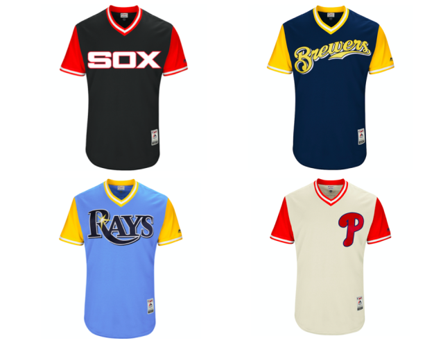 Some of the new jersey designs still manage a retro feel. (MLB)