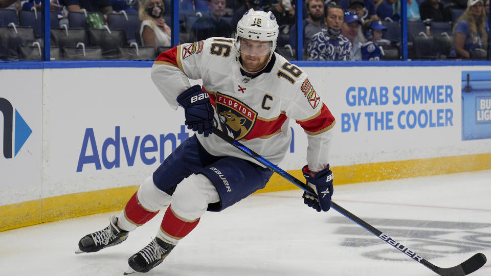Panthers star Aleksander Barkov has been rewarded with a huge new contract. (Photo by Andrew Bershaw/Icon Sportswire via Getty Images)